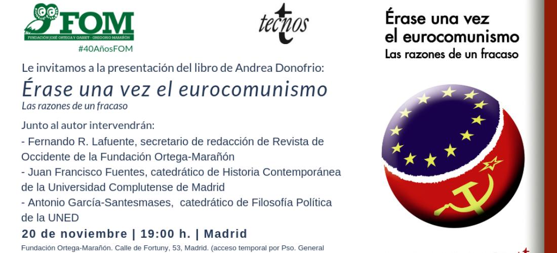 Presentación del libro: Érase una vez el eurocomunismo, de Andrea Donofrio
