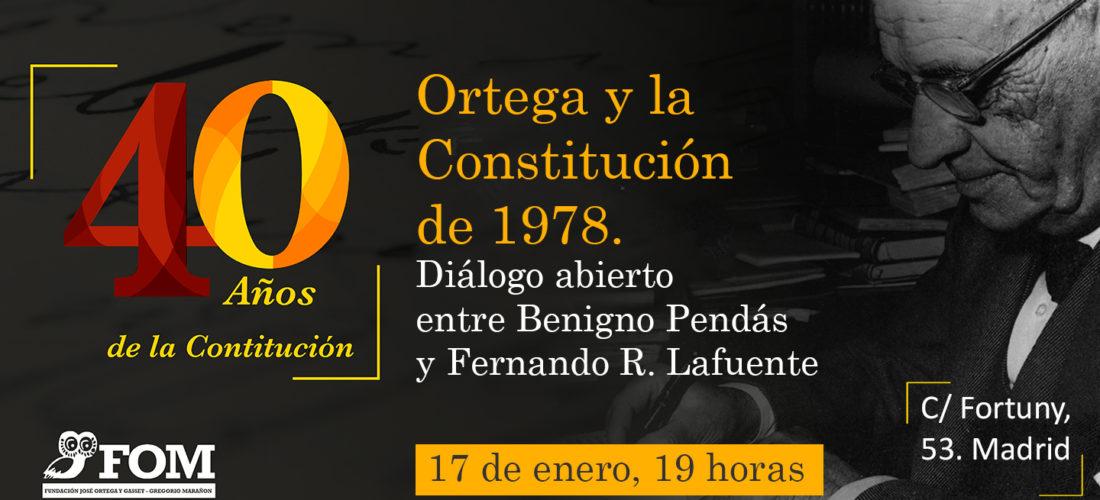 """Diálogo sobre """"Ortega y la Constitución de 1978"""""""