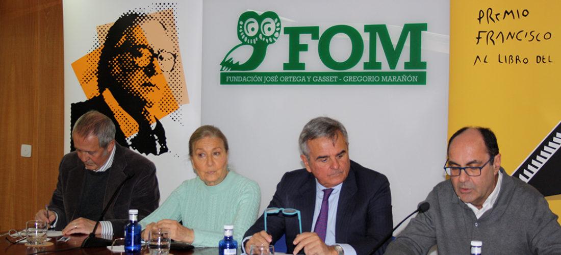 La Fundación Ortega-Marañón acoge el fallo del VIII Premio Francisco Umbral al Libro del Año