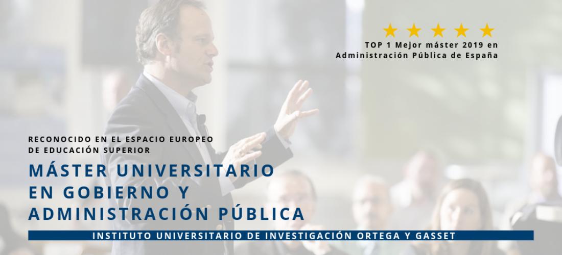 El Máster Universitario en Gobierno y Administración Pública, nº 1 en el ranking de El Mundo de los mejores másteres