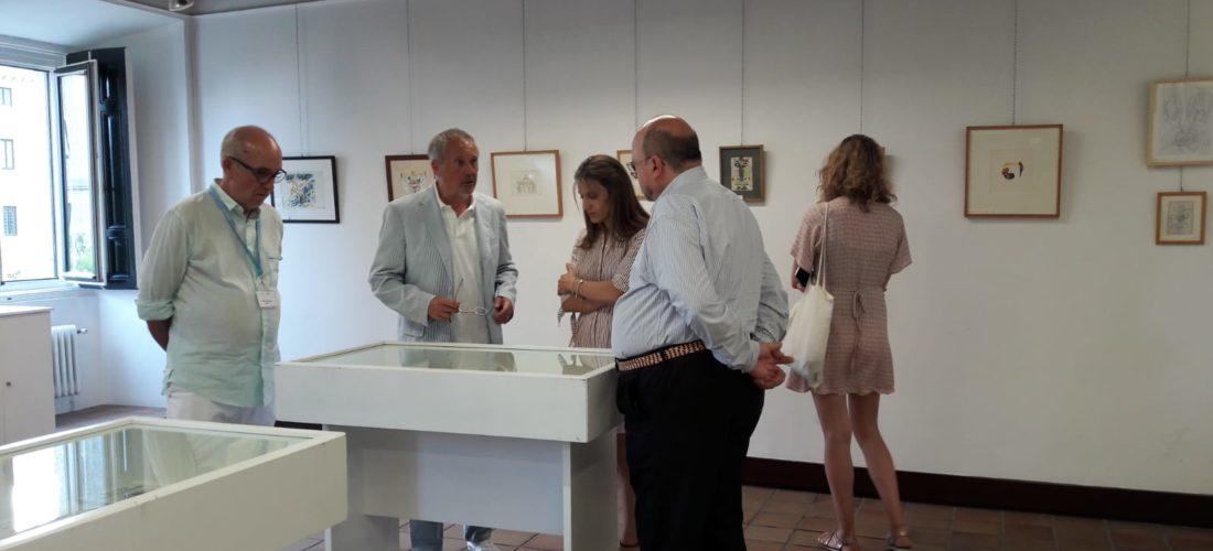 """Inauguración de la Exposición """"Trazos de la palabra. Viñetas de Revista de Occidente"""" en San Lorenzo de El Escorial"""