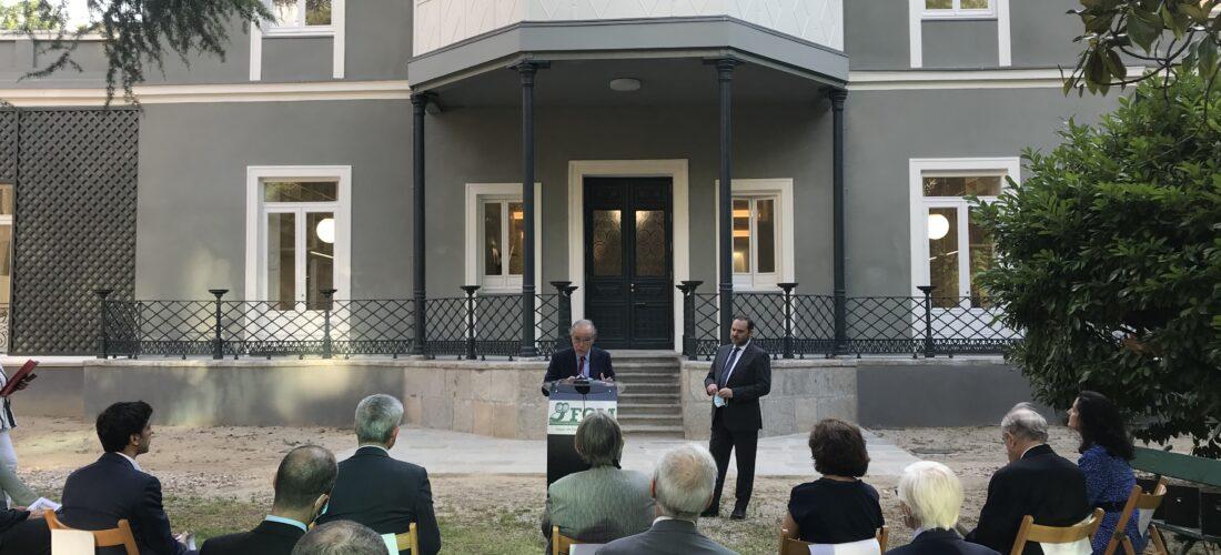 El ministro José Luis Ábalos resalta el importante proyecto de rehabilitación y ampliación de la sede Fundación Ortega-Marañón, uno de los grandes referentes de la cultura en español